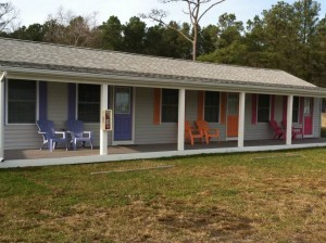 Three color coded rental rooms